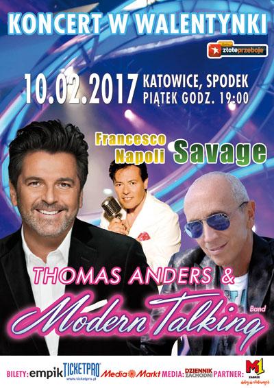 Koncert Walentynkowy - Katowice - Thomas Anders & Modern Talking Band, Savage, Francesco Napoli