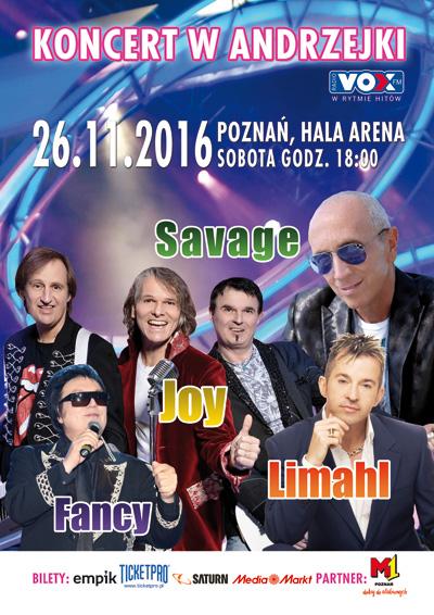Koncert Andrzejkowy - Poznań - Savage, Limahl, Fancy, Joy
