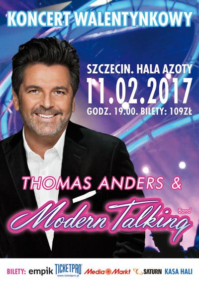 Koncert Walentynkowy - Szczecin - Thomas Anders & Modern Talking Band